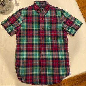 American Eagle shorts sleeve plaid shirt